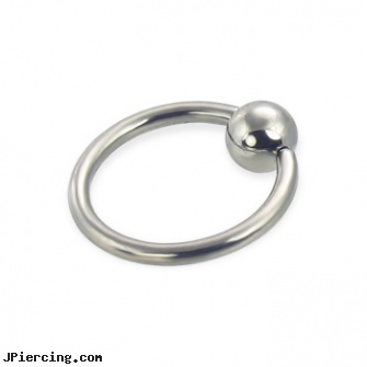 Captive bead ring, 14 ga, captive segment cock rings, double captive ring body jewelry, captive ball, belly button rings with screw on beads, the bead ring