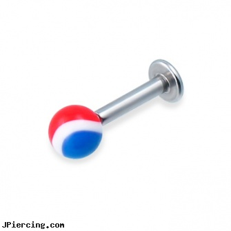 Labret with pepsi ball, 12 ga, buy 16 gauge labrets, labret care, labret spirituality, cock rings ball splitters, cock ring effective placement balls