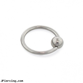 Titanium captive bead ring, 16 ga, titanium or stainless steel belly button rings, titanium ear jewelry, navel piercing barbell titanium, charms for captive belly rings, gem captive beads rings