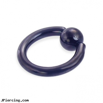 black captive bead ring 10 ga thickness 10