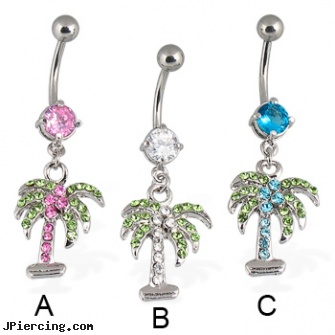 Palm Belly Button Ring Length 7 16 11mm