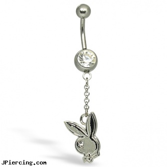 Playboy Belly Button Ring, playboy jewelery, playboy bunny italian charm, playboy bunny tongue rings, cheerleading belly rings, belly ring pictures