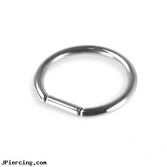Straight segment ring, 14 ga, straight barbell clear retainer, straight onyx plugs, internally threaded straight barbells, captive segment cock rings, crescent septum ring