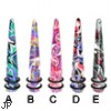 Swirly marble multi-color taper